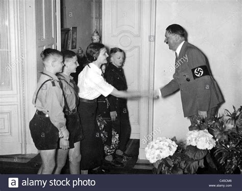 Hitler Youth and BDM(League of German Girls) girls