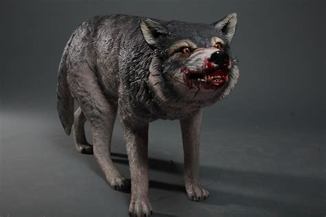 Lifesize Snarling Wolf Statue - Special Order – Dapper