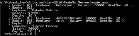 Connect to SQL Server using Node