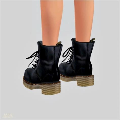SIMS4 Marigold: Female Combat Boots • Sims 4 Downloads
