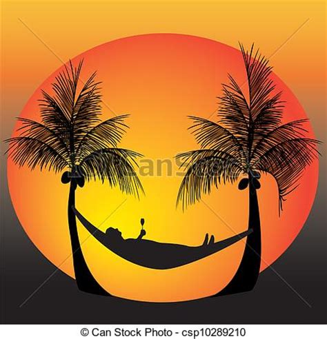 Relax on a hammock