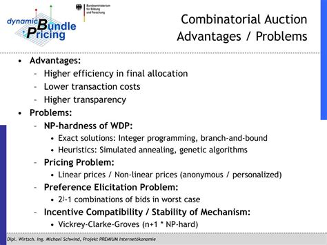 PPT - Design of Combinatorial Auctions for Allocation and