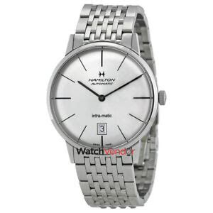 Hamilton Intra-Matic Silver Dial Stainless Steel Mens
