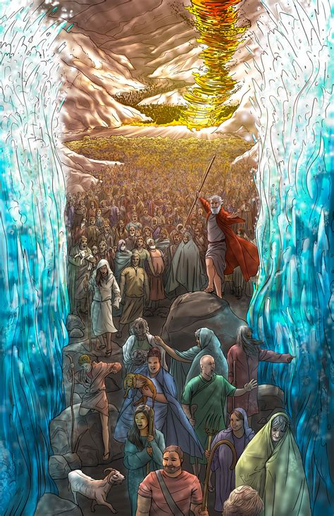 Moses and the Red Sea on Behance