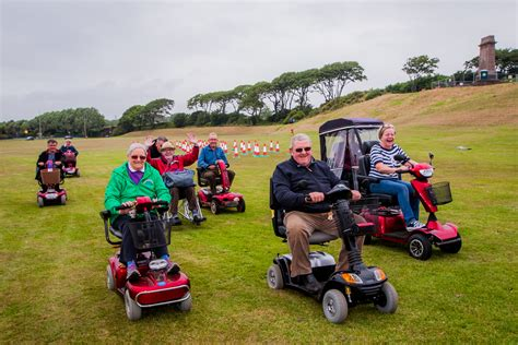 Disabled scoot along to second Arbroath wacky races event