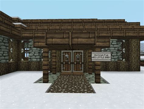 """An Old Irish Pub """"WEE LITTLE BABY"""" Minecraft Project"""