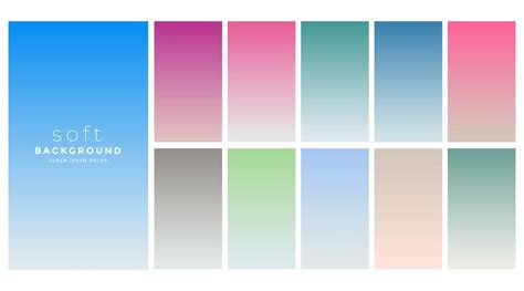 soft gradients colors swatch set - Download Free Vector