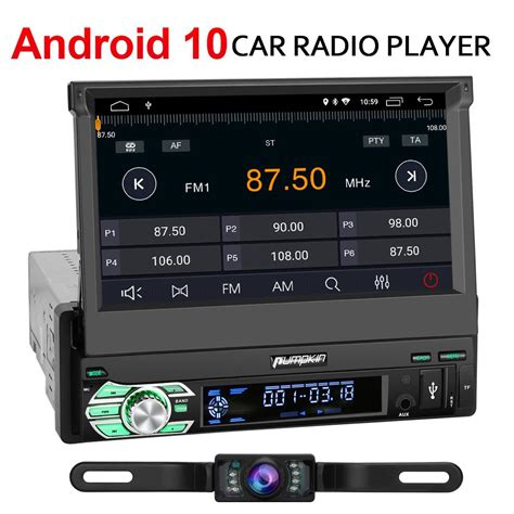 Android 10 Car Stereo 1 Din with GPS Reverse Camera | Pumpkin