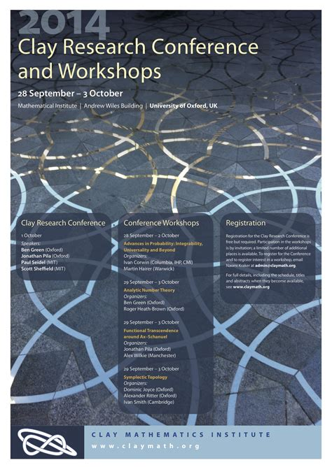 2014 Clay Research Conference | Clay Mathematics Institute