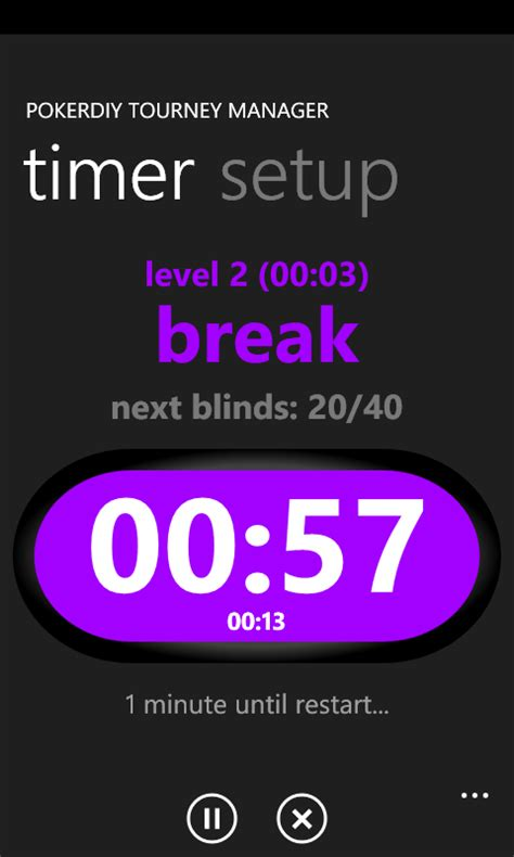 PokerDIY Tourney Manager: Free, simple blind timer and
