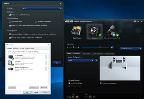 Realtek HD Audio Manager not seperating the jacks as